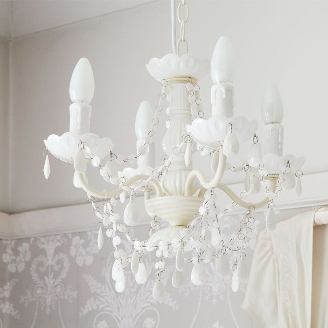 Mimi White Chandelier By The French Bedroom Company