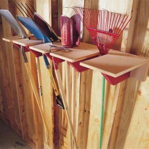 Garage Storage Project Shovel Rack Gardens Tool Sheds And