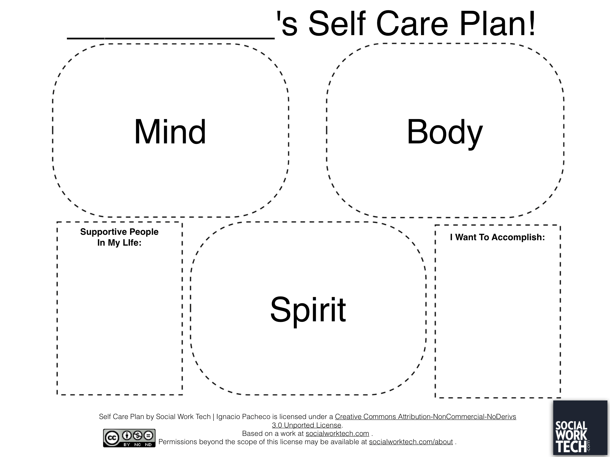 Social Work Tech Making A Self Care Plan On Ipad
