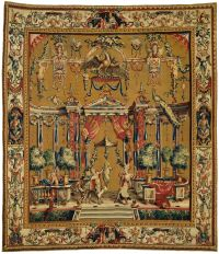 Grotesque carpet with the sacrifice of Priapus by