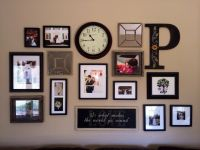 decorating living room wall with initial   31 Collage ...