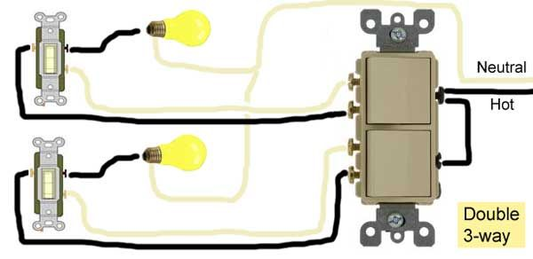 Double 3 Way Switch Wiring Electricity Three Way Switching