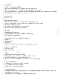 Birth Plan Worksheet, Page 3