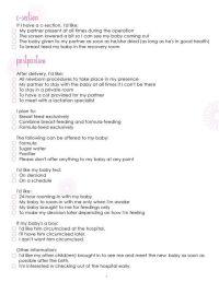 Birth Plan Worksheet, Page 3