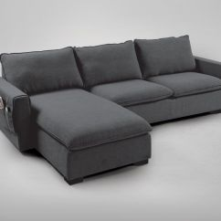 Grey Large L Shaped Sofa Fulton Contemporary Bed Group With 2 Ottomans Nacho  Dark Comfort Design The