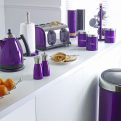 Kitchen Decor Accessories Buffet Storage Cabinet Purple Stuff I Wish Could Have These In My