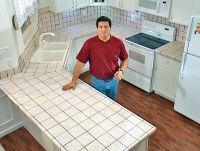 Install Tile Over Laminate Countertop and Backsplash ...