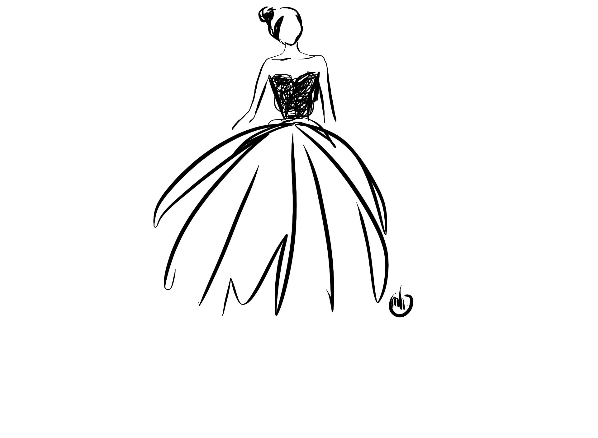 Black And White High Fashion Drawings