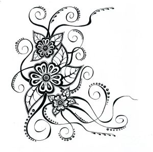 flower drawing simple floral drawings line designs patterns flowers kosenko anna clipart fine prints cliparts google mandala library paper tattoo