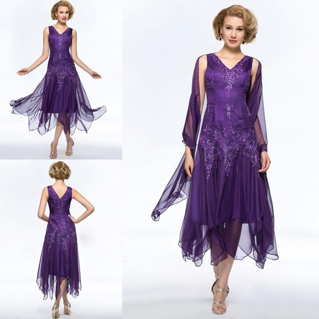 Purple Mother Of The Bride Dresses Plus Size