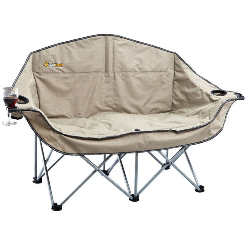 OZtrail Moon Double Chair with Arms  Camp Furniture