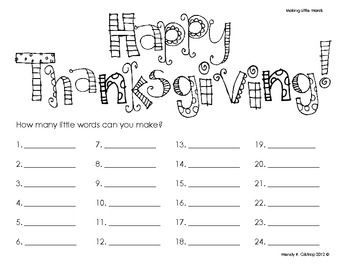 {freebie} How many words can you make with 'Happy
