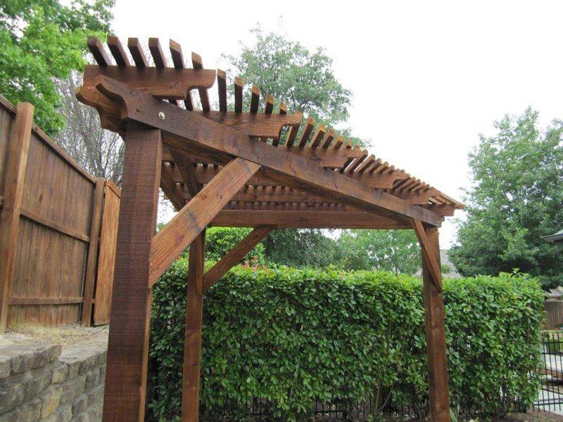 Triangular Wooden Corner Pergola More