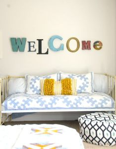 Navy and gold guest bedroom ideas colors also gorgeous industrial glam master makeover reveal rh pinterest