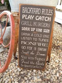Backyard Signs on Pinterest