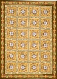 The Menton Empire needlepoint rug is inspired by an Empire ...