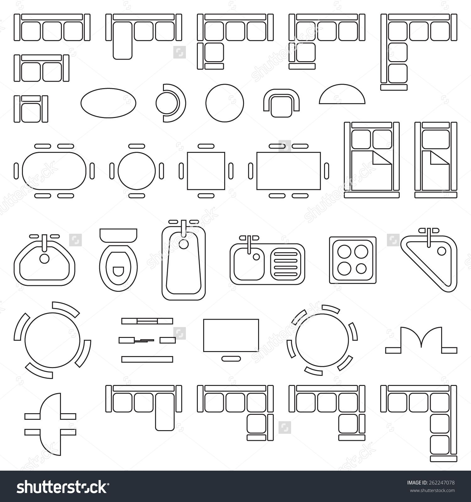 tables and chairs meaning antique standard furniture symbols used in architecture plans