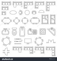 Standard Furniture Symbols Used In Architecture Plans ...