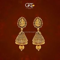 22K Gold Antique Finish Jhumka From GRT Jewellers ...