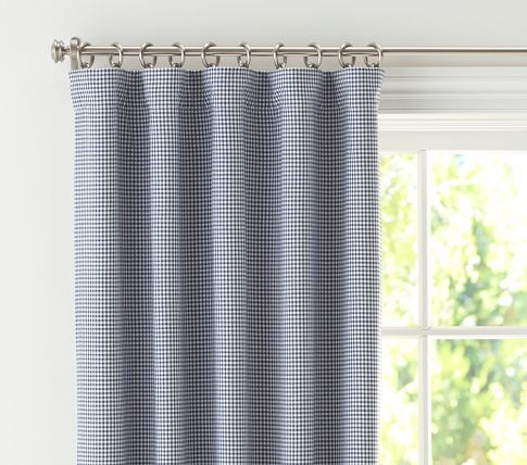 I Broke Down And Bought These Blue Gingham Curtains For The