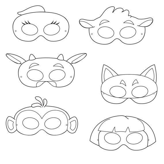 Dora the Explorer Inspired Black and White Printable Masks