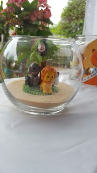 Safari center pieces | Safari Baby Shower | Pinterest ...