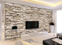 3D Effect Brick Stone Wallpaper For Interior Designs ...