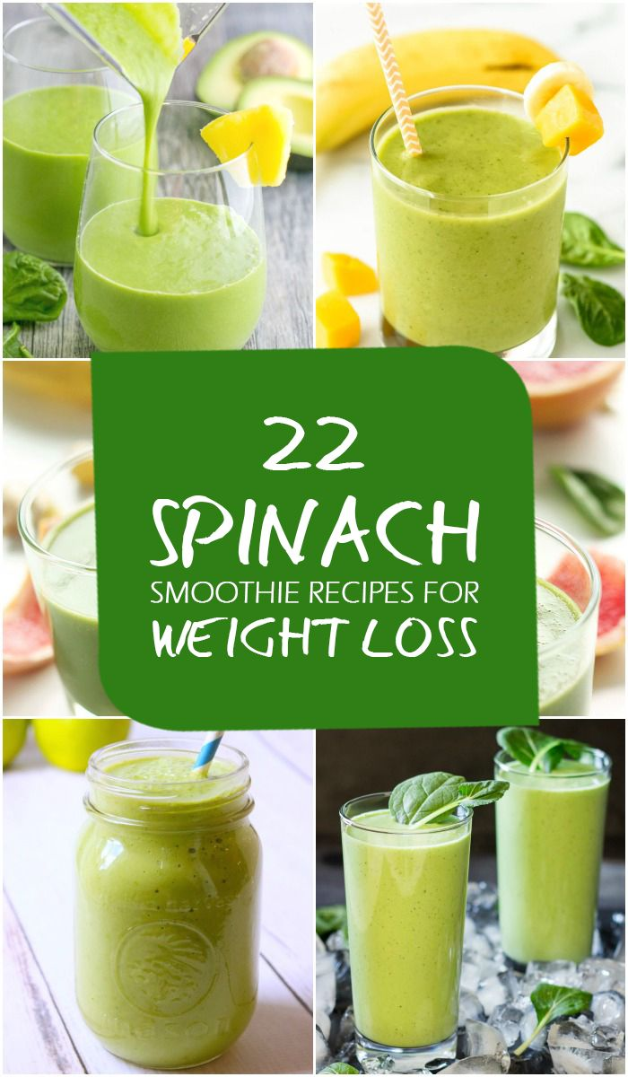 22 Best Spinach Smoothie Recipes for Weight Loss | Fruit ...