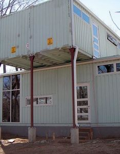 Container house from the outside credibly roomy  beautiful inside also rh pinterest