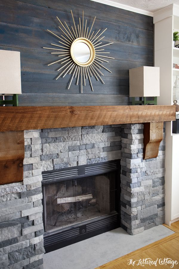 Red Brick Fireplace Makeover Faux Stone Fireplaces On Pinterest | Airstone Fireplace