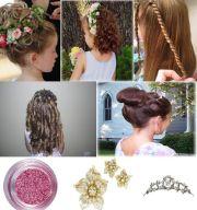 kids hairstyle wedding step