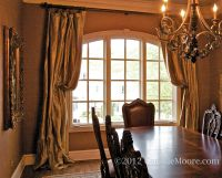 window treatments for arched windows | Silk Draperies ...