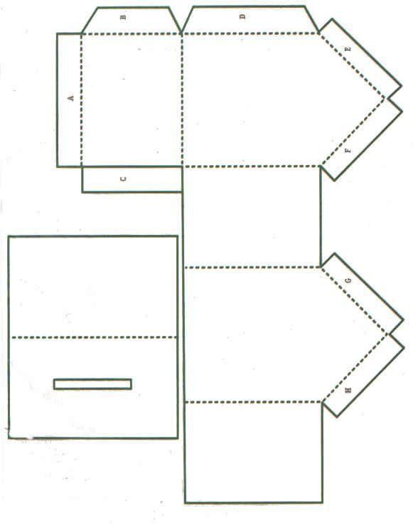 Vorlage Papierhaus Haus Falten Zimmerdeko Selber Machen Startseite