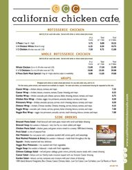 California Chicken Cafe  Salad Concept  Pinterest