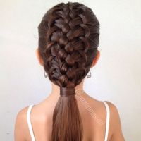 NAMES OF COOL BRAIDS! French loop braided hairstyle Girls ...
