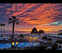 Light Show Hotel Del Coronado. Night' Sunset