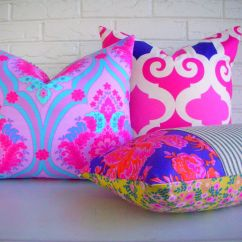 Bright Colored Sofa Pillows Broyhill Nebraska Furniture Mart Decorative Pillow Cover Purple Fuchsia Floral Throw