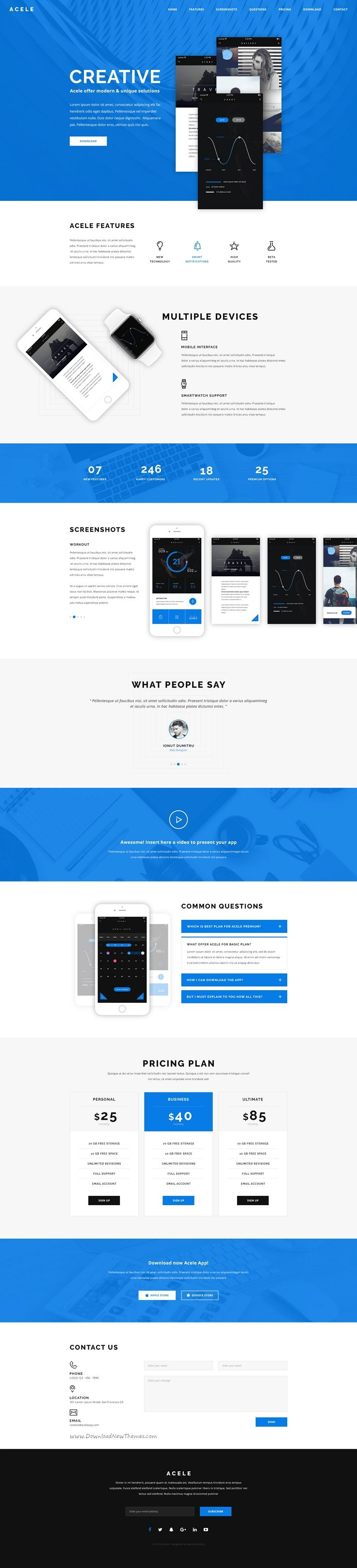 Acele is  creative clear and modern psd template for apps website download also rh ar pinterest