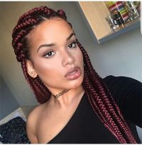 Long Hairstyles Black Hair 25 Best Box Braids Ideas On ...