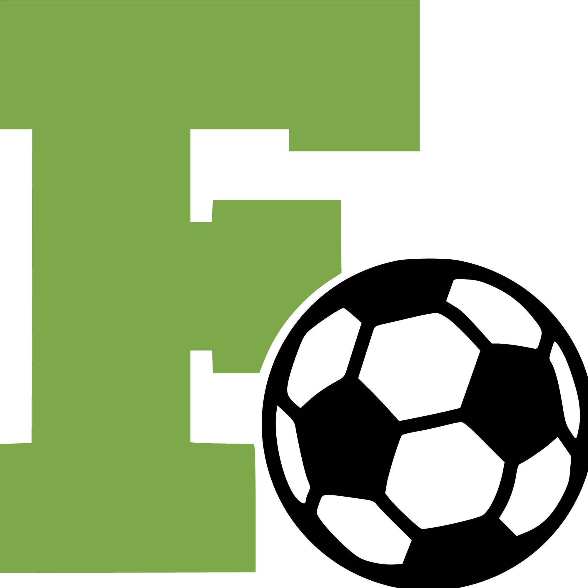 Letter F And Soccer Ball Wall Decal