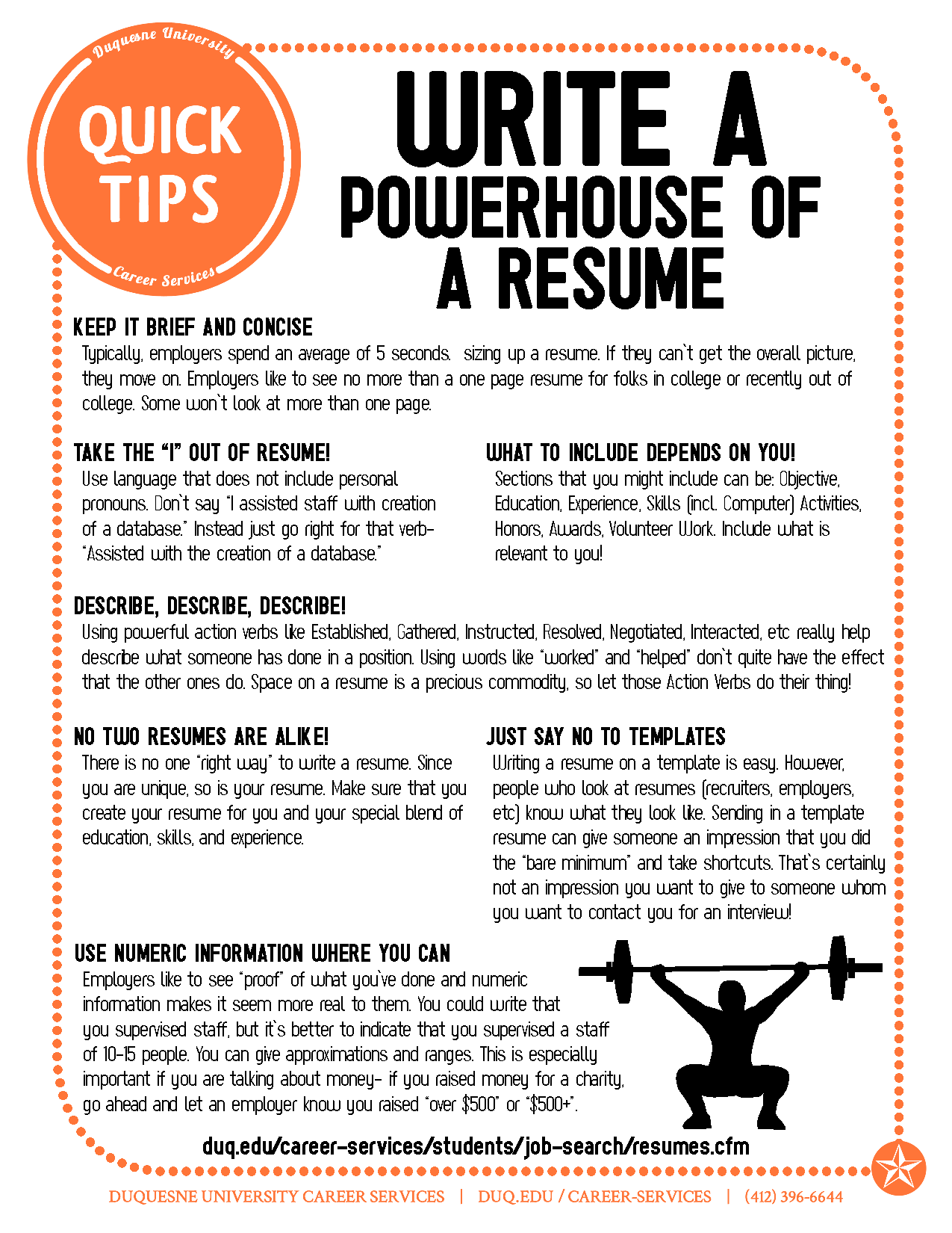 Powerful Resume Tips. Easy Fixes To Improve And Update Your Resume.