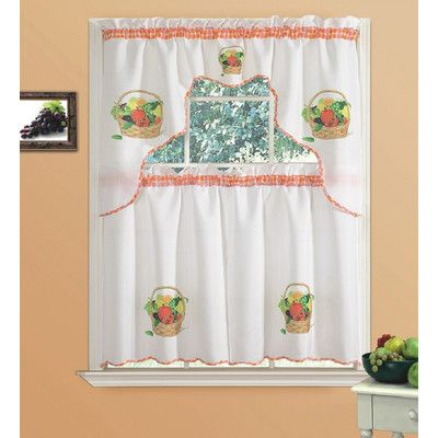 fruit kitchen curtains black faucets pull out spray daniels bath fresh curtain set products pinterest