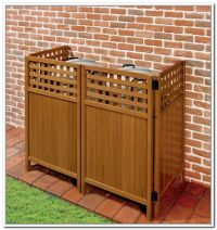 Outdoor Trash Can Storage Ideas | Backyard | Pinterest ...