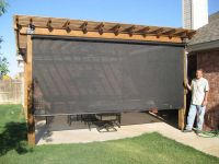 Patio Shade Ideas With Black Curtain | OUTDOORS ...