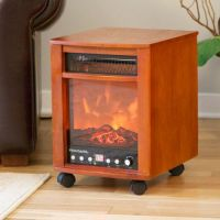 Portable Electric Fireplace with Wheels | Fire Pit For ...