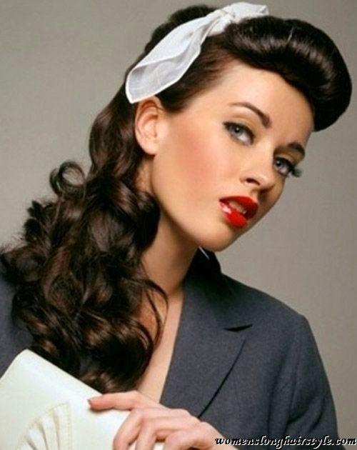 Bildergebnis Für 50er Frisur Offen Haare Pinterest 50er