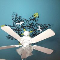 Hand painted ceiling fan medallion