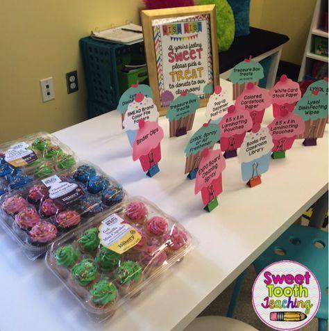 FREEBIE Cupcake Wish List Open House Meet The Teacher Night