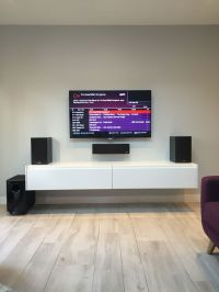 Simple White Wall Mounted Tv Cabinet Comprise White ...