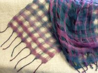 collapsed weave scarves | Collapse Weave Handspun Scarf ...